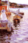 Anders zorn Laping on the wave