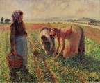 Camille Pissaro Picking Peas oil on canvas